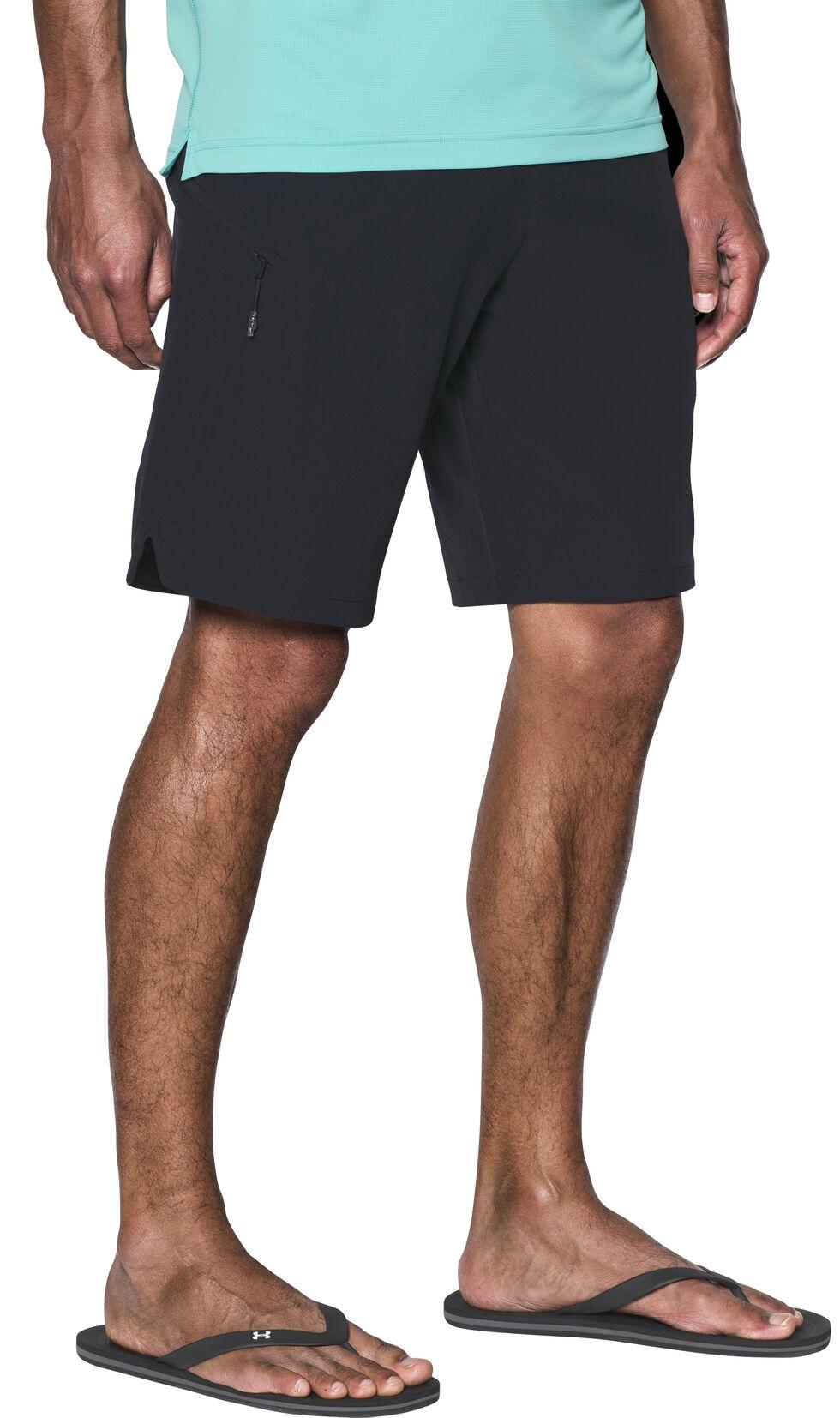 Under Armour Men's Light Grey Solid Board Shorts, Black, hi-res