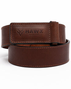 Hawx Men's Scratchless Work Belt , Brown, hi-res