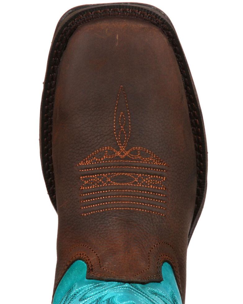 Durango Women's Rebel Western Work Boots - Steel Toe, Brown, hi-res