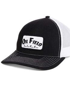 Oil Field Hats Men's Black & White Life Patch Mesh-Back Ball Cap , Black, hi-res
