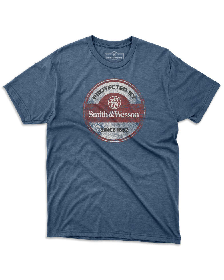 Smith & Wesson Men's Vintage Sign Graphic T-Shirt , Blue, hi-res