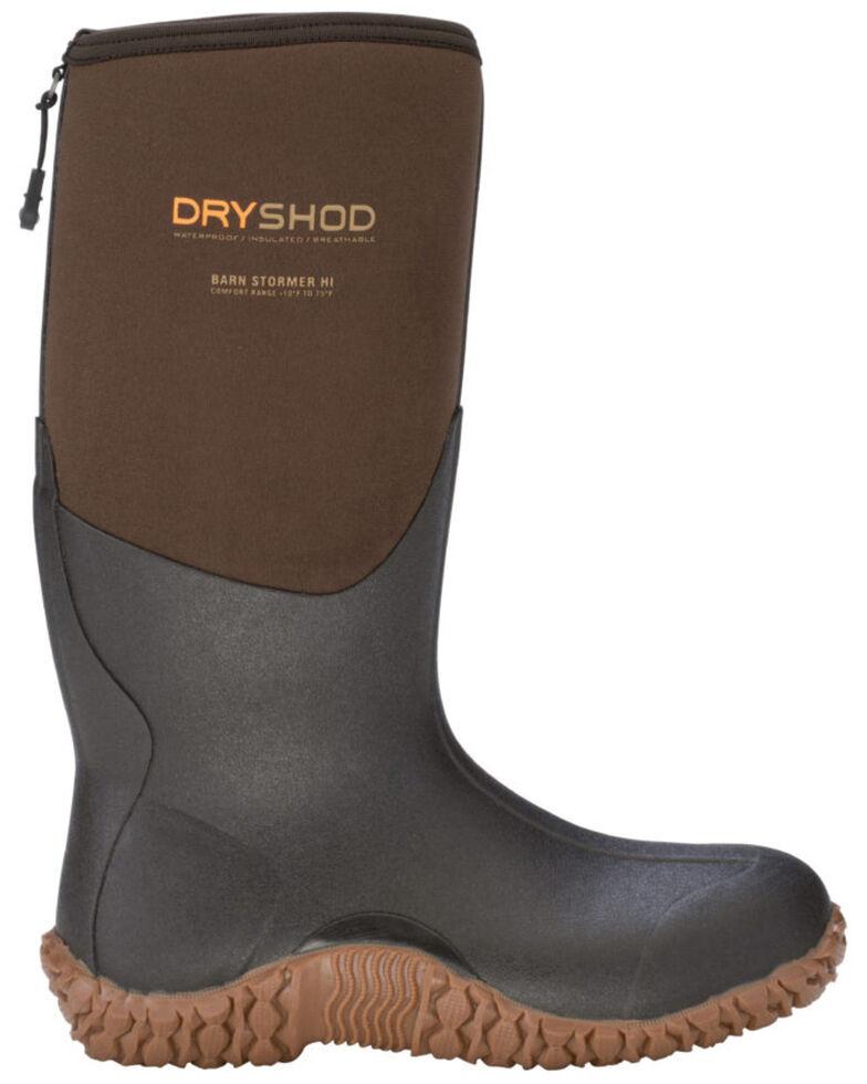 Dryshod Men's Barnstormer Rugged Farm Boot, Brown, hi-res