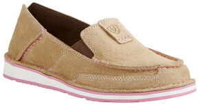Ariat Women's Taupe Cruiser Shoes - Moc Toe, Taupe, hi-res