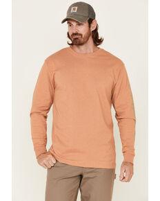Carhartt Men's Contrast Graphic Heavyweight Logo Long Sleeve Work T-Shirt , Green, hi-res