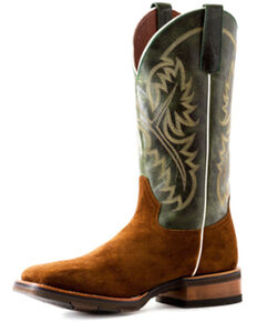 HorsePower Men's Emerald Western Boots - Wide Square Toe, Brown, hi-res