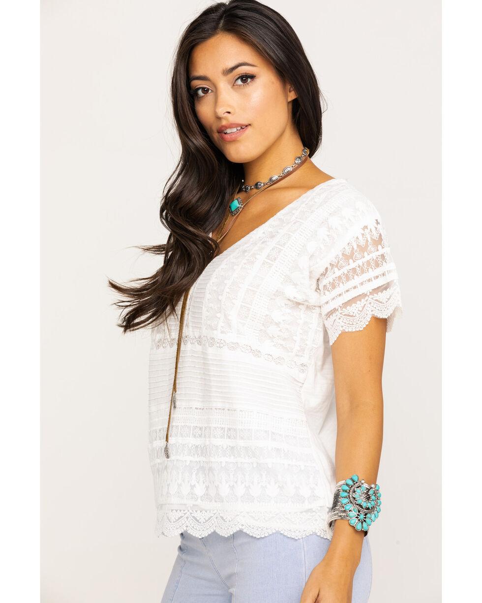 Miss Me Women's White Lace Blouse, White, hi-res