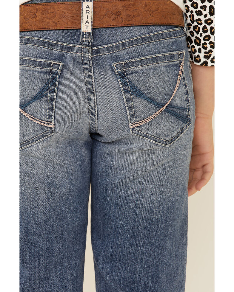 Ariat Girls' R.E.A.L Med Charlotte Stretch Trouser Jeans , Blue, hi-res
