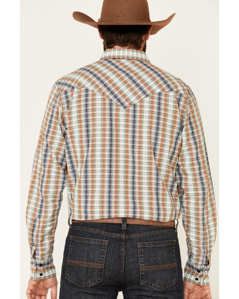 Cinch Men's Modern Fit Cream Small Plaid Long Sleeve Western Shirt , Cream, hi-res