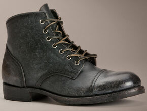 Frye Logan Cap Toe Lace-Up Boots, Black, hi-res