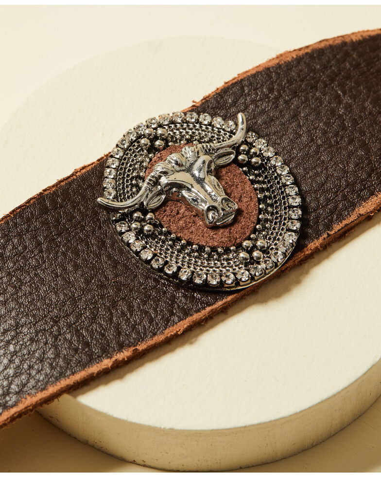 Cowgirl Confetti Women's Out West Cuff, Brown, hi-res