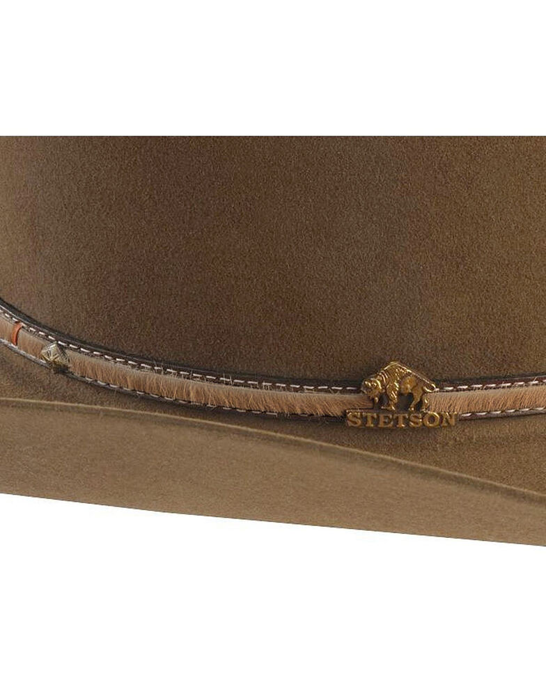 Stetson Men's Powder River 4X Buffalo Felt Cowboy Hat, Mink, hi-res