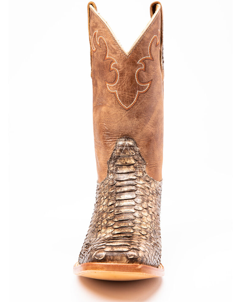 Cody James Men's Exotic Python Western Boots - Wide Square Toe, Python, hi-res