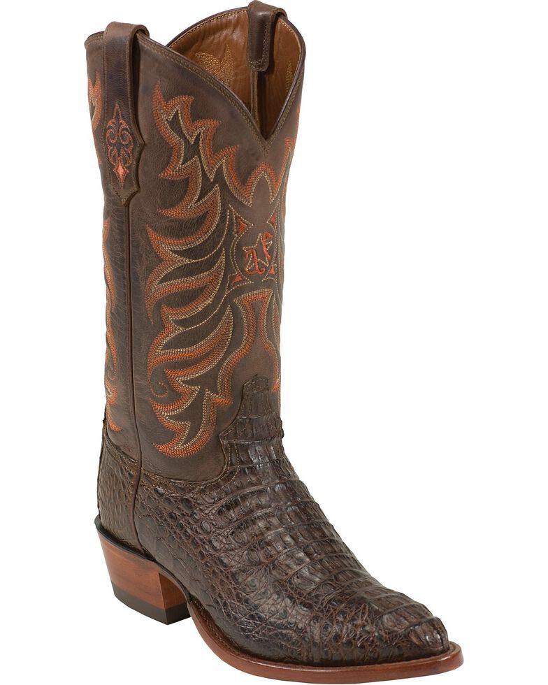 Tony Lama Vintage Hornback Caiman Cowboy Boots - Medium Toe, , hi-res