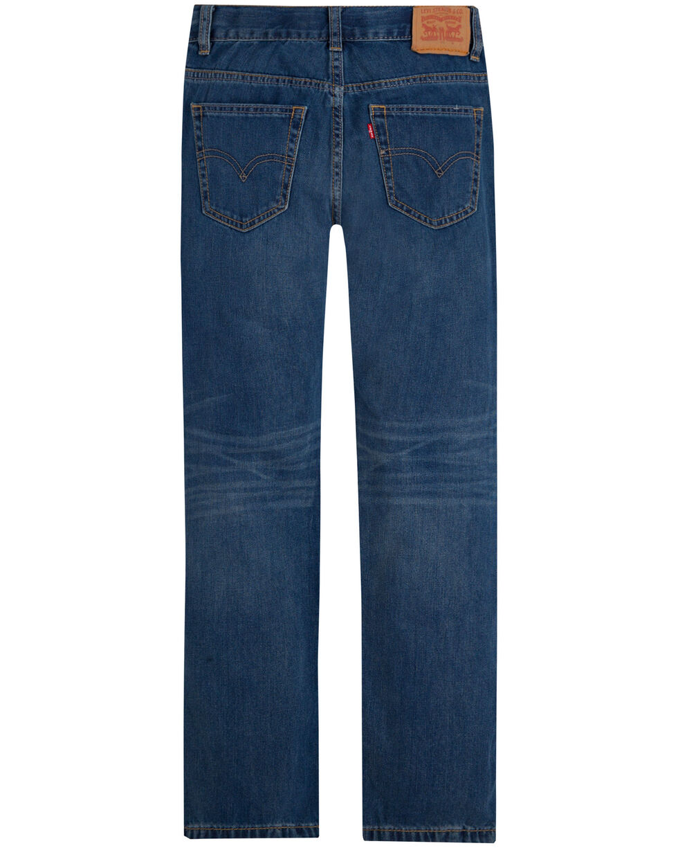 Levis Boys' Clouded Tones 505 Regular Fit Straight Jeans , Blue, hi-res