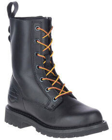 Harley Davidson Women's Beason Moto Boots - Soft Toe, Black, hi-res