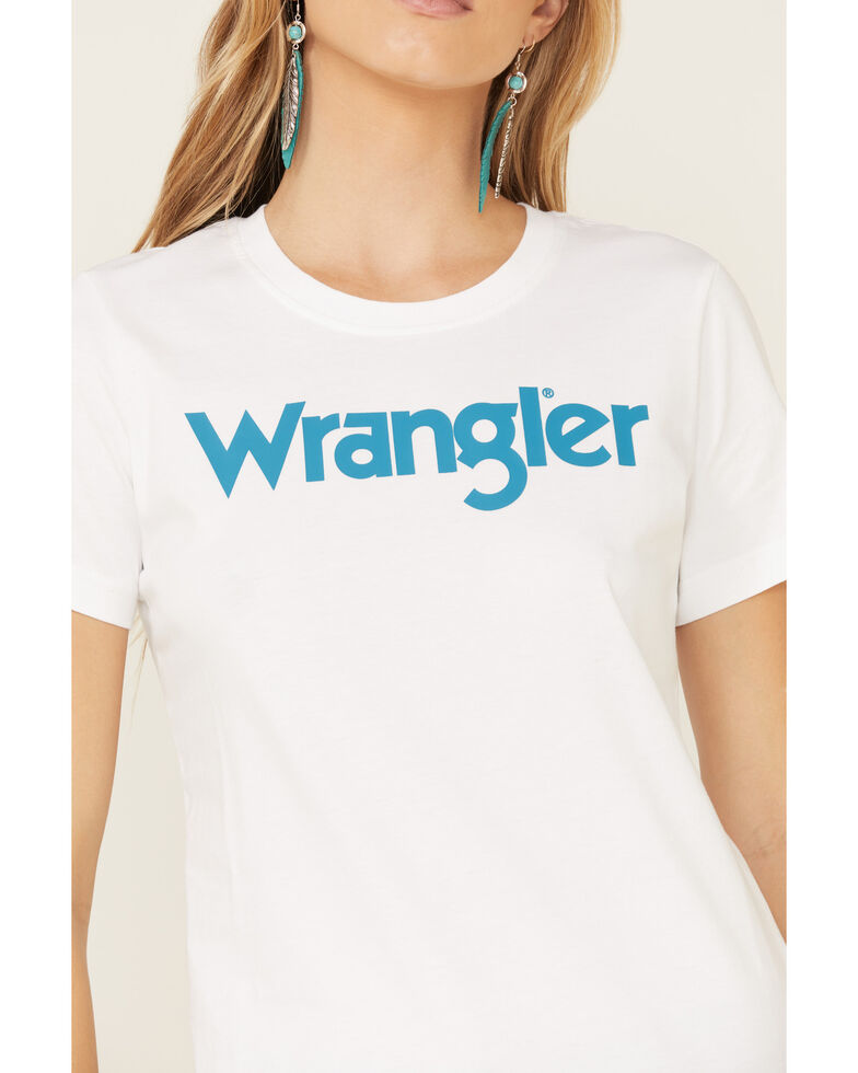 Wrangler Women's White Wrangler Graphic Tee , White, hi-res