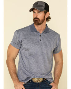 Cody James Core Men's Navy Tonal Stripe Short Sleeve Polo Shirt , Navy, hi-res