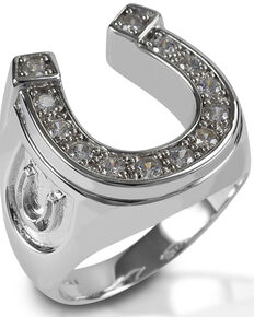 Kelly Herd Men's Horseshoe Ring , Silver, hi-res