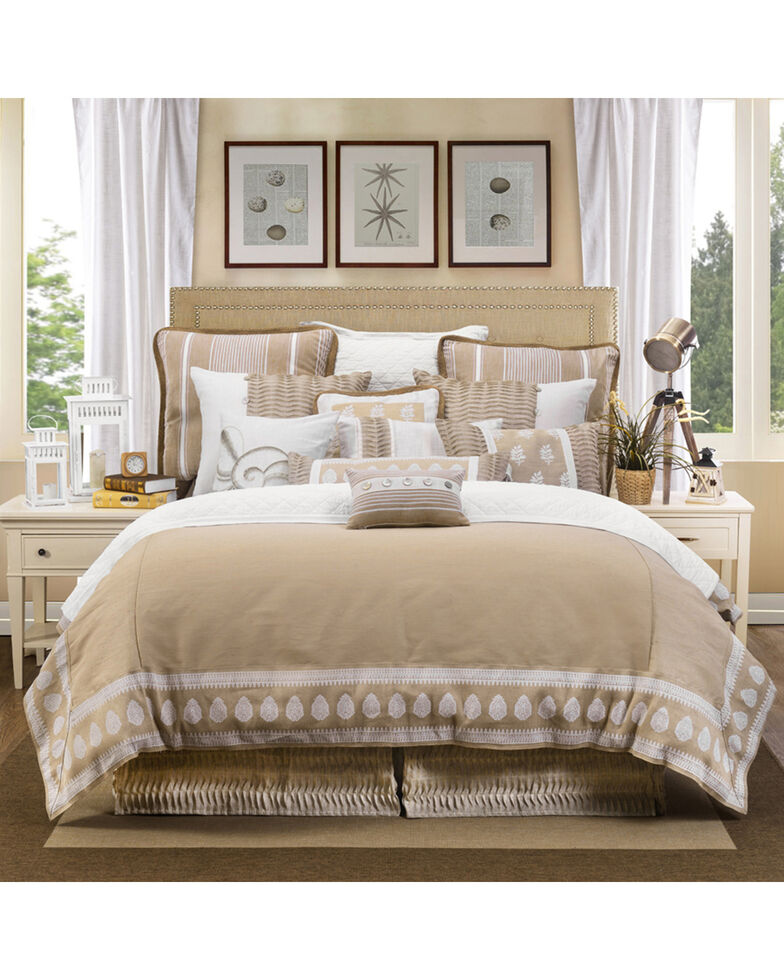 HiEnd Accents Cream Newport Duvet Cover Set - King, Cream, hi-res