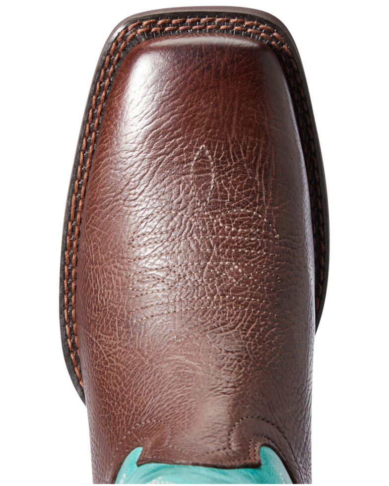 Ariat Women's Cattle Drive Western Boots - Wide Square Toe, Brown, hi-res