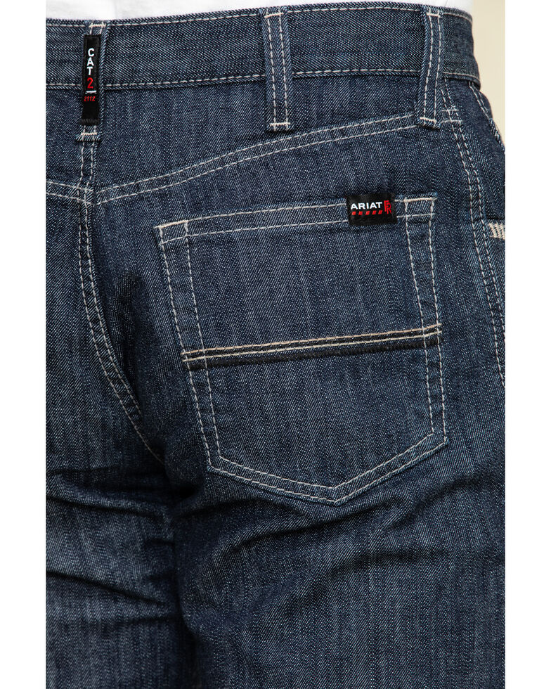 Ariat Men's M4 FR Armor Low Stretch Relaxed Bootcut Work Jeans - Big , Blue, hi-res