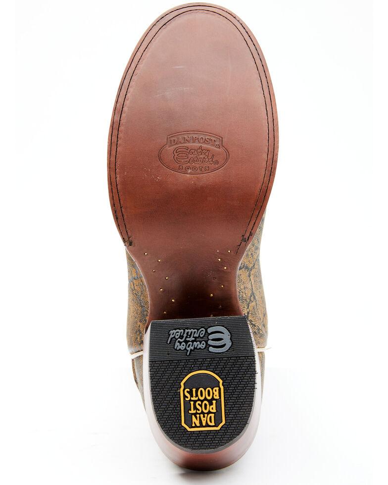Dan Post Men's Elephant Print Western Boots - Round Toe, Brown, hi-res