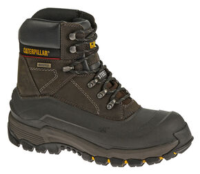 Caterpillar Men's Flexshell Waterproof Work Boots - Steel Toe, Black, hi-res