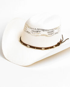 Cody James Men's 20X C51 Low Cattleman Pro Rodeo Bangora Straw Hat, Natural, hi-res