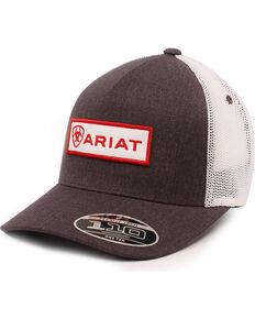 Ariat Men's Logo Patch Ball Cap, Grey, hi-res