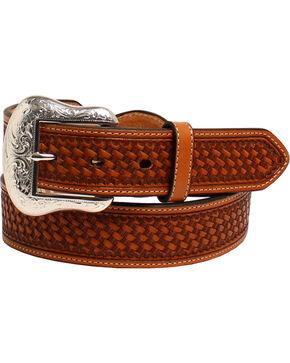 Nocona Men's Conchos Leather Western Belt , Brown, hi-res