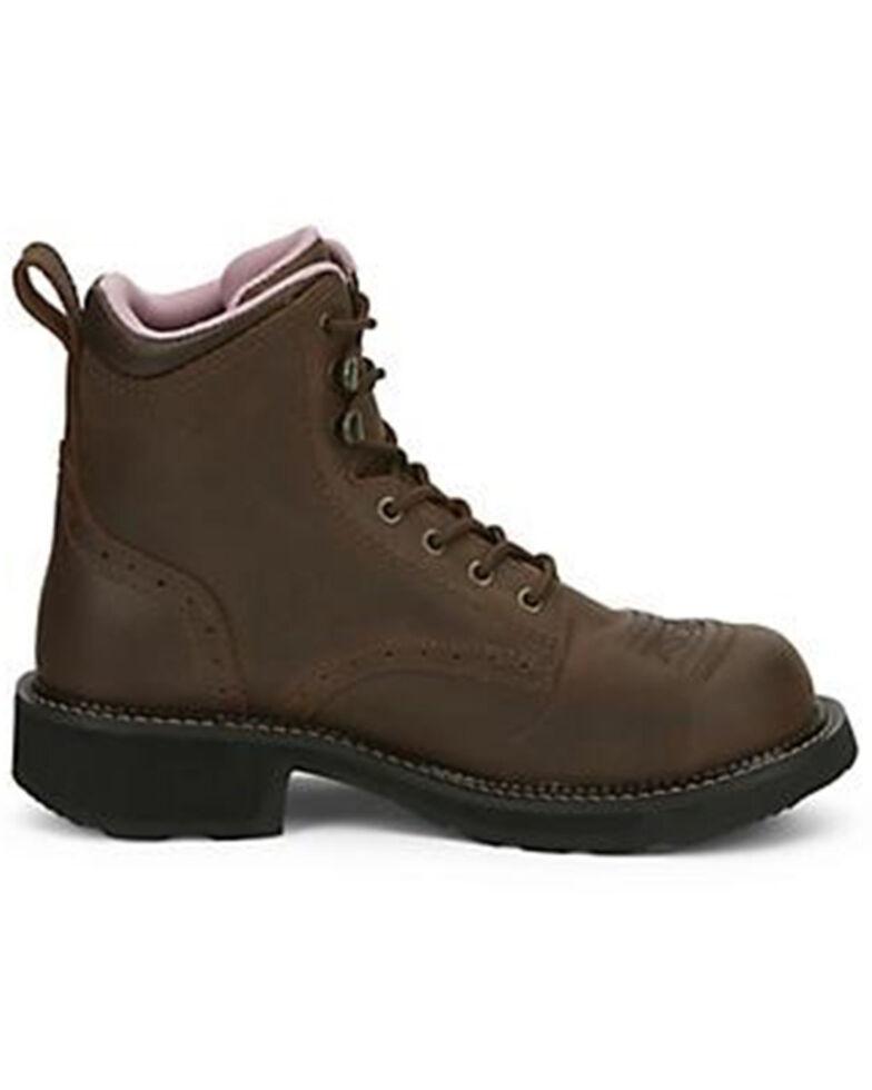 Justin Women's Katerina Waterproof Work Boots - Steel Toe, Brown, hi-res