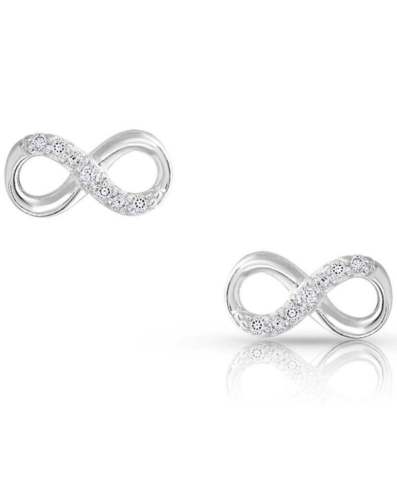 Montana Silversmiths Women's Silver Shine Infinity Earrings, Silver, hi-res