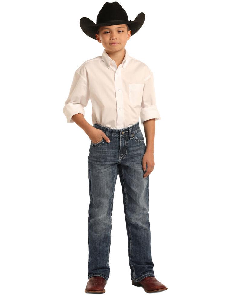 Rock & Roll Cowboy Boys' BB Gun Medium Vintage Bootcut Jeans , Blue, hi-res