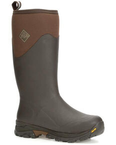 Muck Boots Men's Arctic Ice Rubber Boots - Round Toe, Brown, hi-res