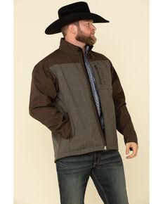 Cinch Men's Brown Color Blocked Bonded Concealed Carry Jacket , Brown, hi-res
