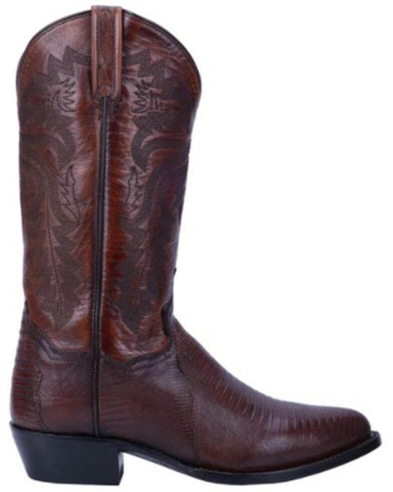 Dan Post Men's Tan Winston Lizard Western Boots - Round Toe, Tan, hi-res
