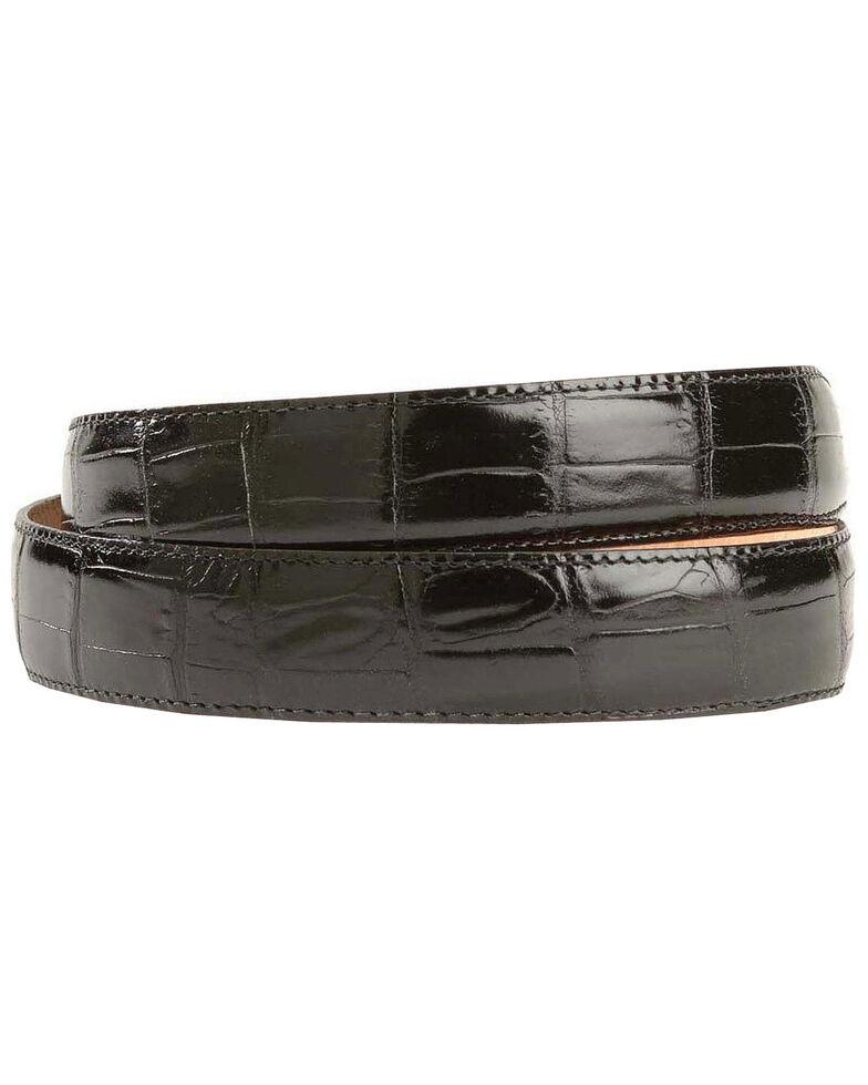Leegin Men's Crocodile Print Leather Belt, Black, hi-res