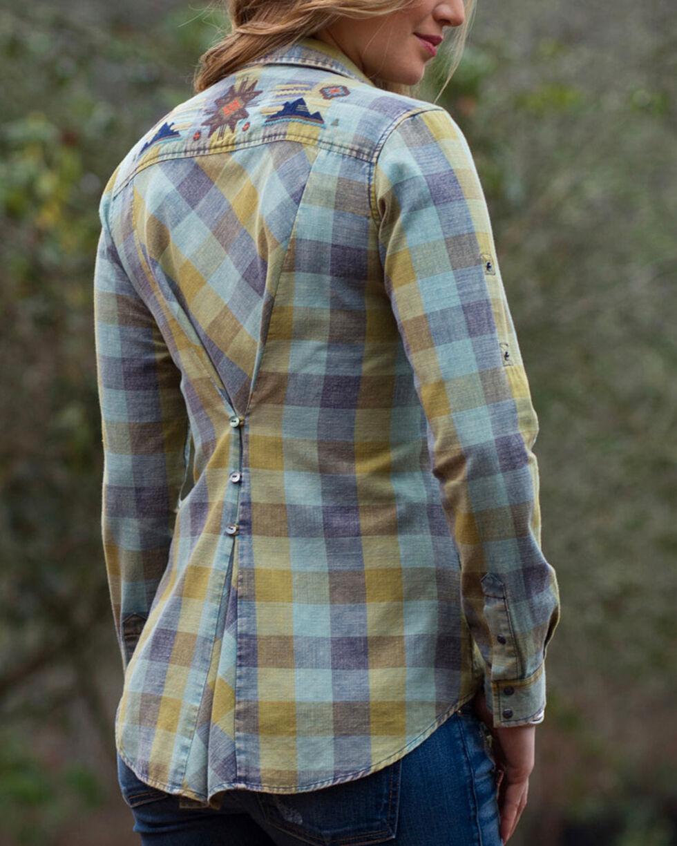 Ryan Michael Women's Embroidered Buffalo Plaid Shirt, Hunter Green, hi-res