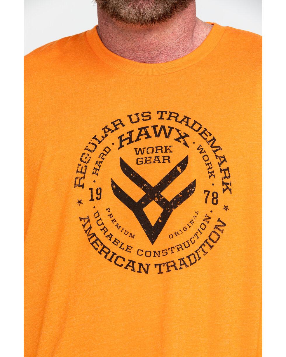 Hawx® Men's Original Eye Graphic Work T-Shirt , Heather Orange, hi-res