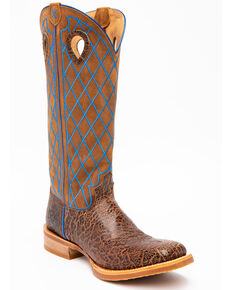 Twisted X Men's Buckaroo Western Boots - Square Toe, Brown, hi-res