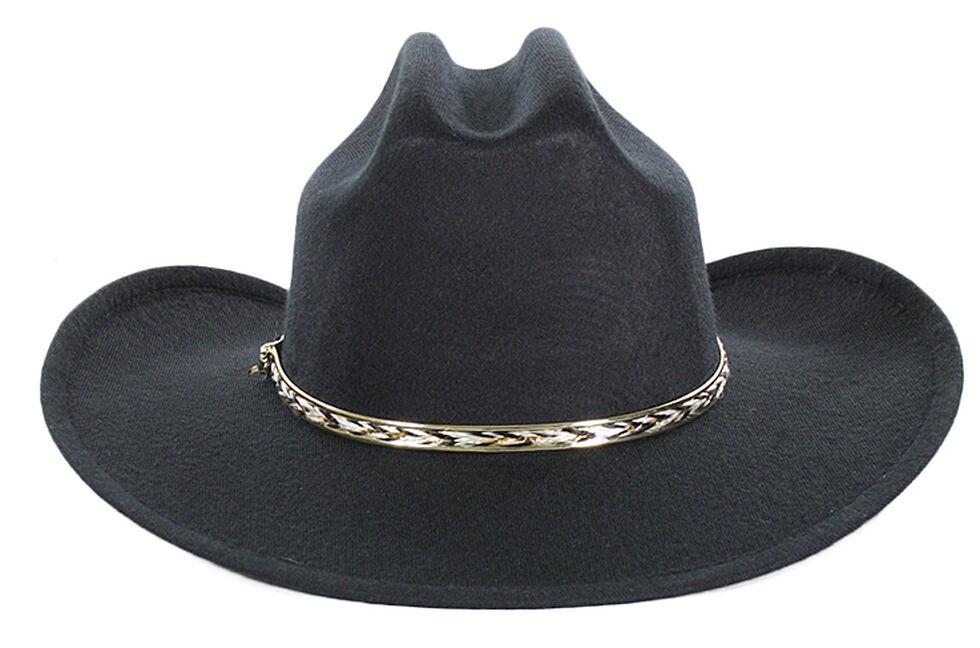 Cody James Boys' Metal Band Cowboy Hat, Black, hi-res
