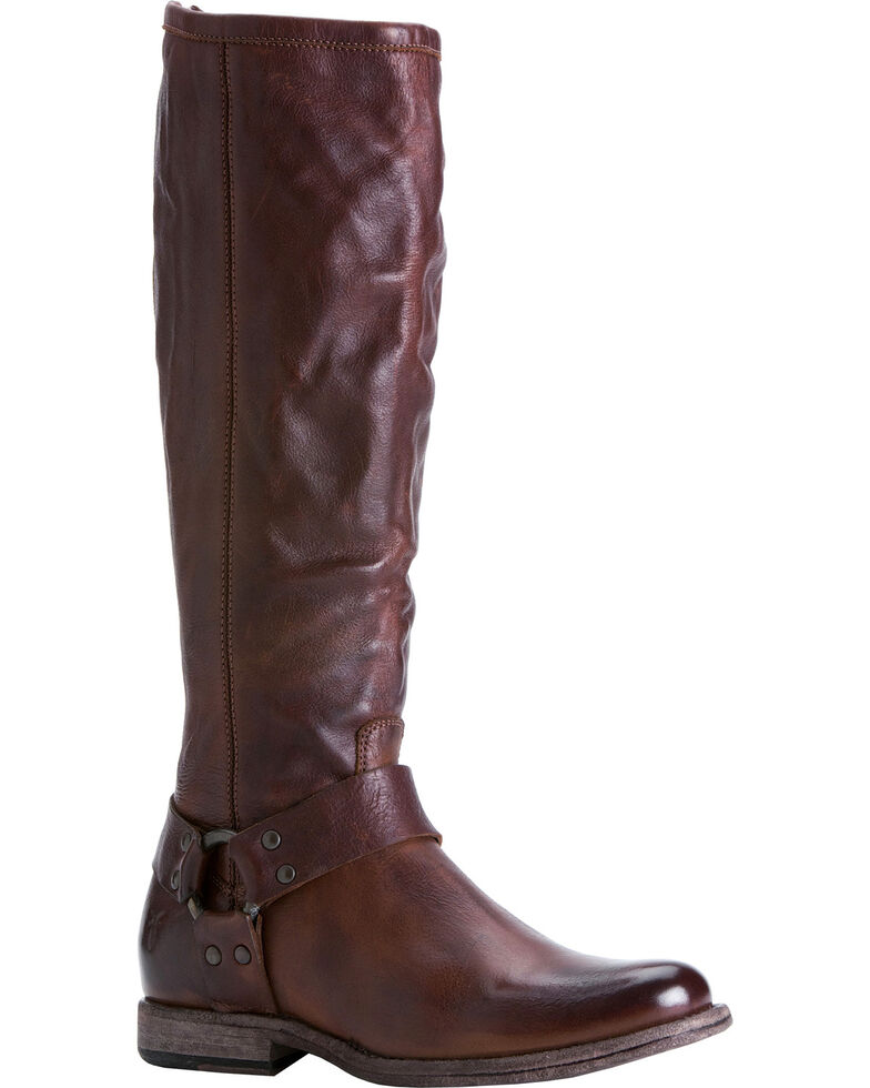 Frye Women S Phillip Harness Riding Boots Extended Calf Country