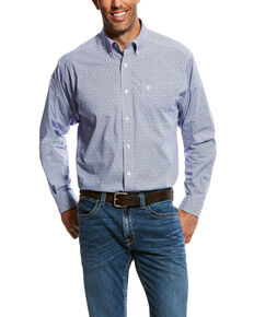 Ariat Men's Oneal Geo Print Long Sleeve Western Shirt - Big & Tall , White, hi-res