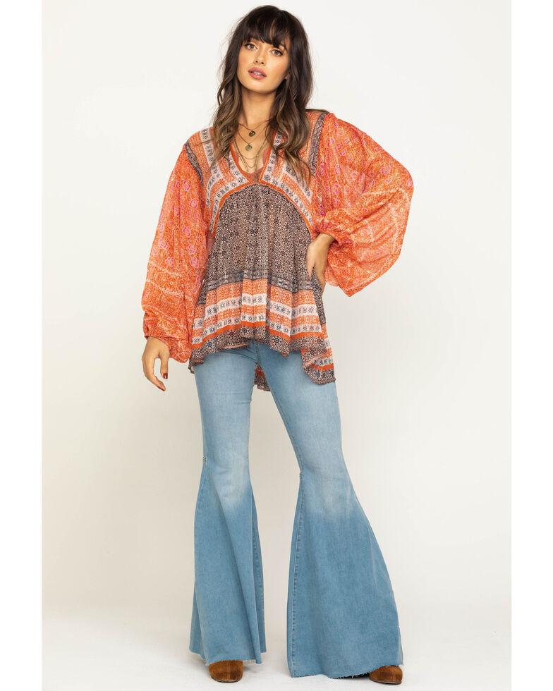Free People Women's Blue Aliyah Print Tunic, Pink, hi-res