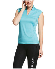 Ariat Women's Aqua Space Cambria Cap Sleeve Baselayer, Aqua, hi-res