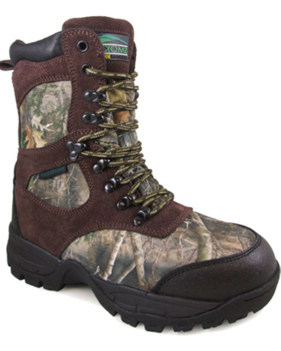 Smoky Mountain Boys' Camo Sportsman Insulated Hunting Boots - Round Toe , Camouflage, hi-res