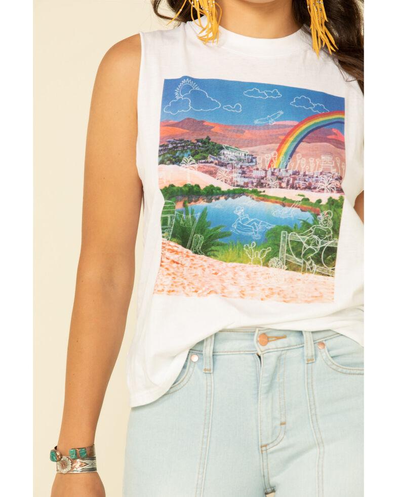 Wrangler Modern Women's White Rainbow Graphic Tank Top, White, hi-res