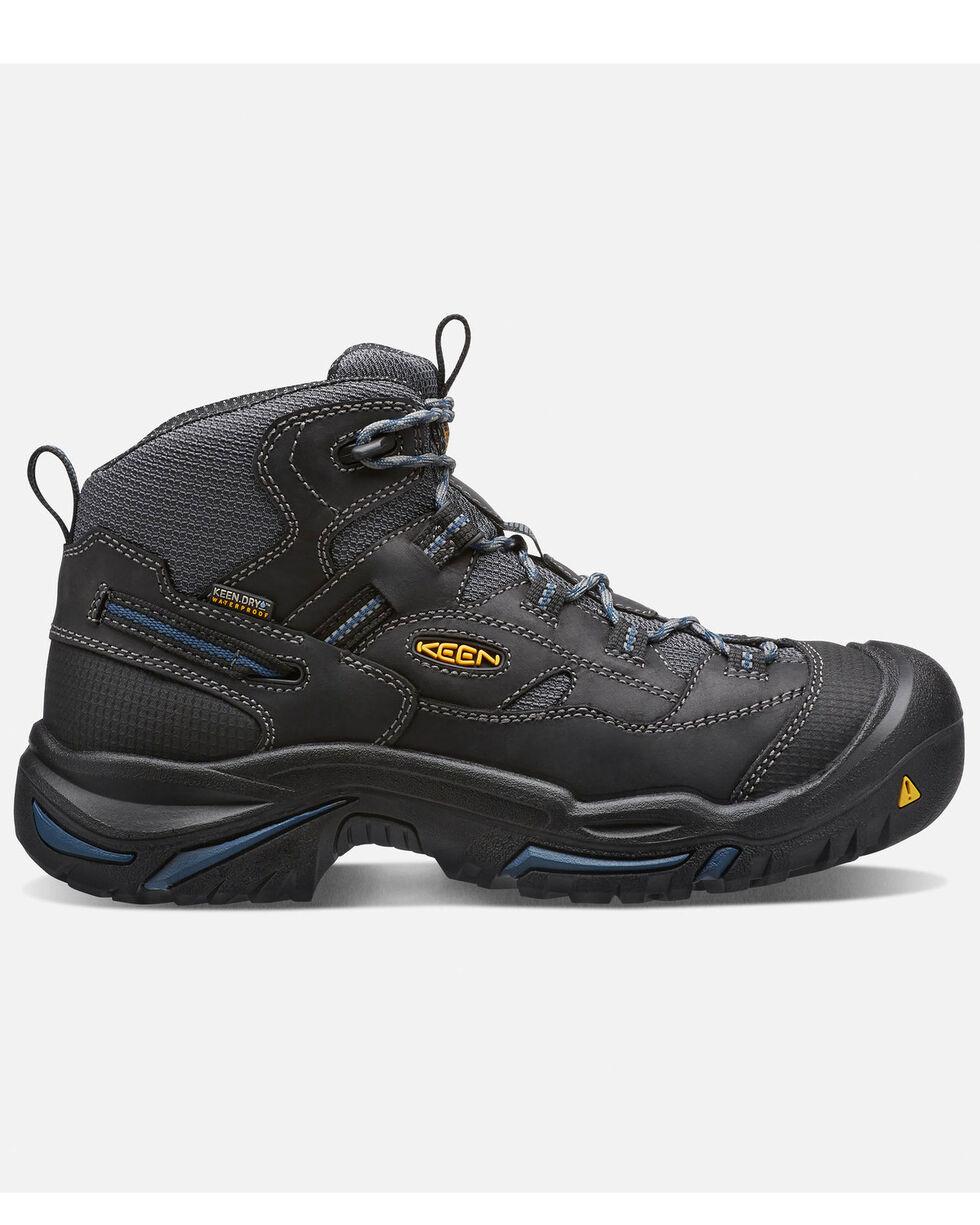 Keen Men's Braddock Waterproof Work Boots - Round Toe, Black, hi-res