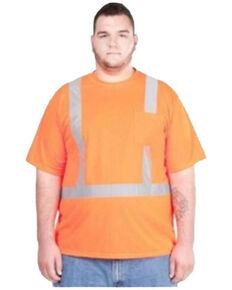Utility Pro Men's Orange Hi-Vis Short Sleeve Work T-Shirt - Big , Orange, hi-res