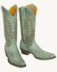 Old Gringo Nevada Cowgirl Boots - Snip Toe, Aqua, hi-res